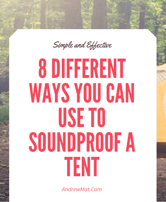 Soundproof Tent
